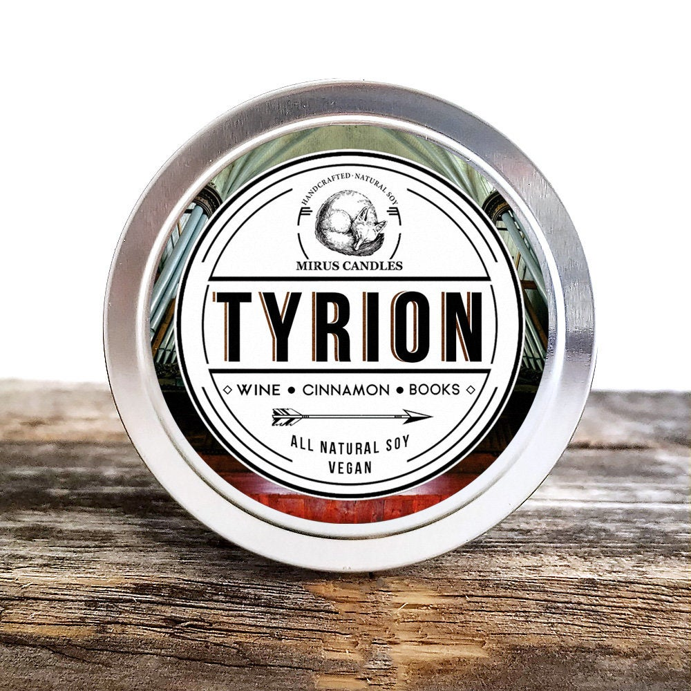 Tyrion Soy Candle | Game of Thrones Inspired Candle - A Song of Ice and Fire- Bookish Candle - 4oz All Natural Vegan Soy- Mirus Candles