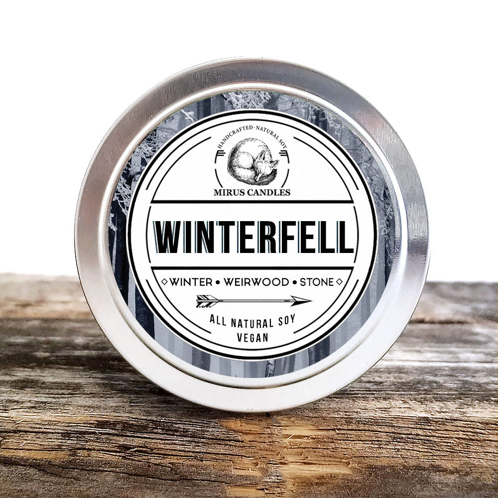 Winterfell Soy Candle | Game of Thrones Inspired Candle - A Song of Ice and Fire- Bookish Candle - 4oz All Natural Vegan Soy- Mirus Candles