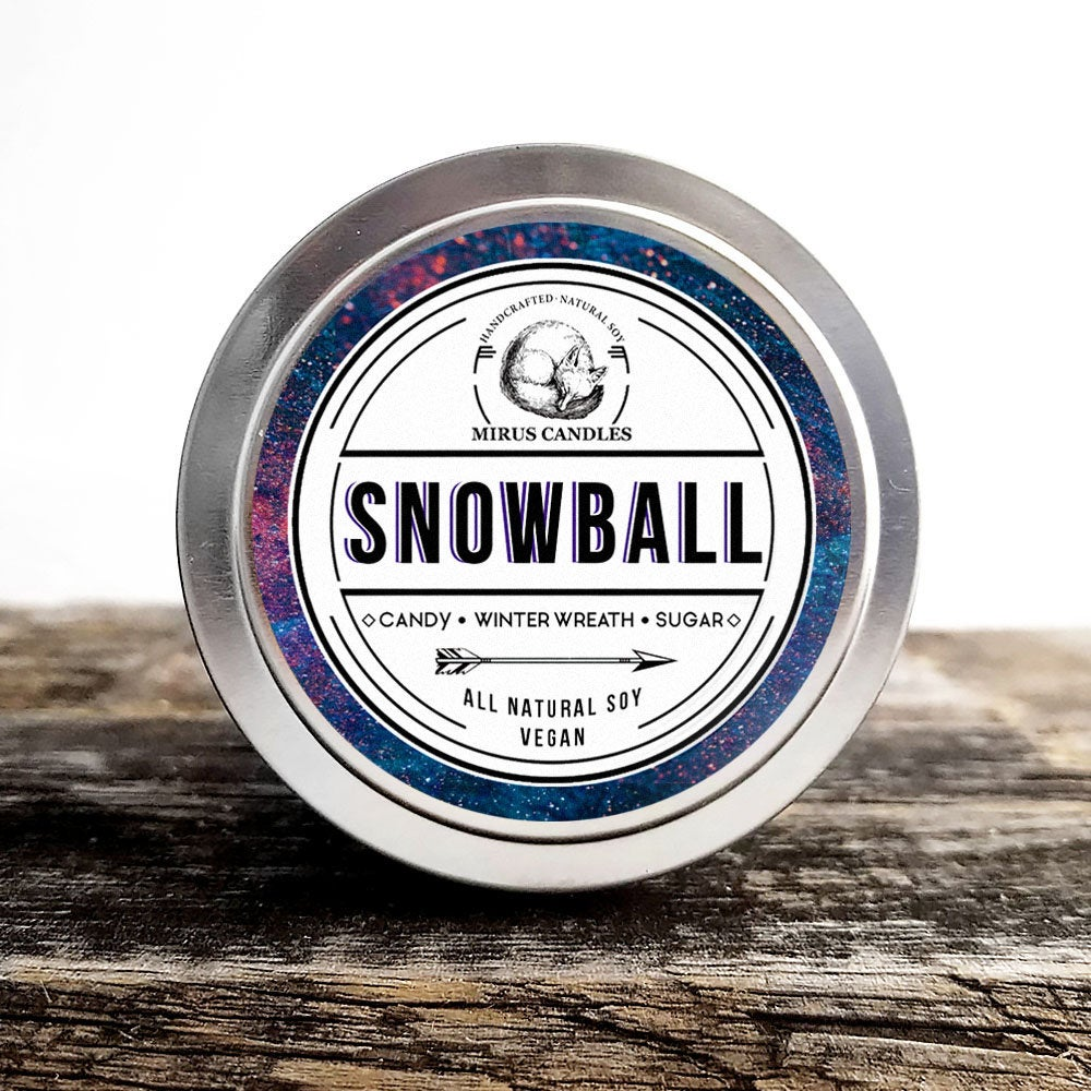 The Snowball Soy Candle | Stranger Things - Fandom Candle - 4oz All Natural Vegan Soy- Mirus Candles