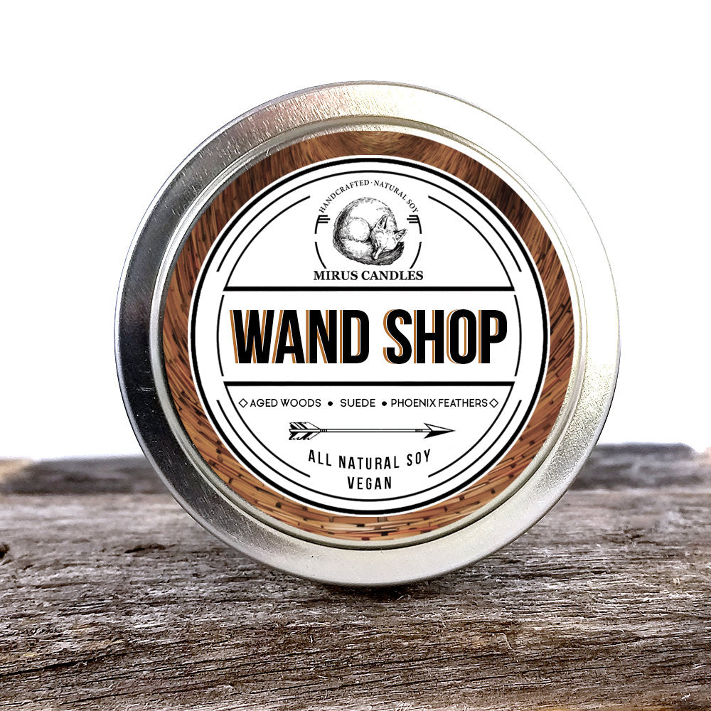 Wand Shop Soy Candle | Harry Potter Inspired Candle - Book Candle - 4oz All Natural Vegan Soy- Mirus Candles