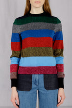 Load image into Gallery viewer, Lurex Stripe Crewneck Pullover - Multi