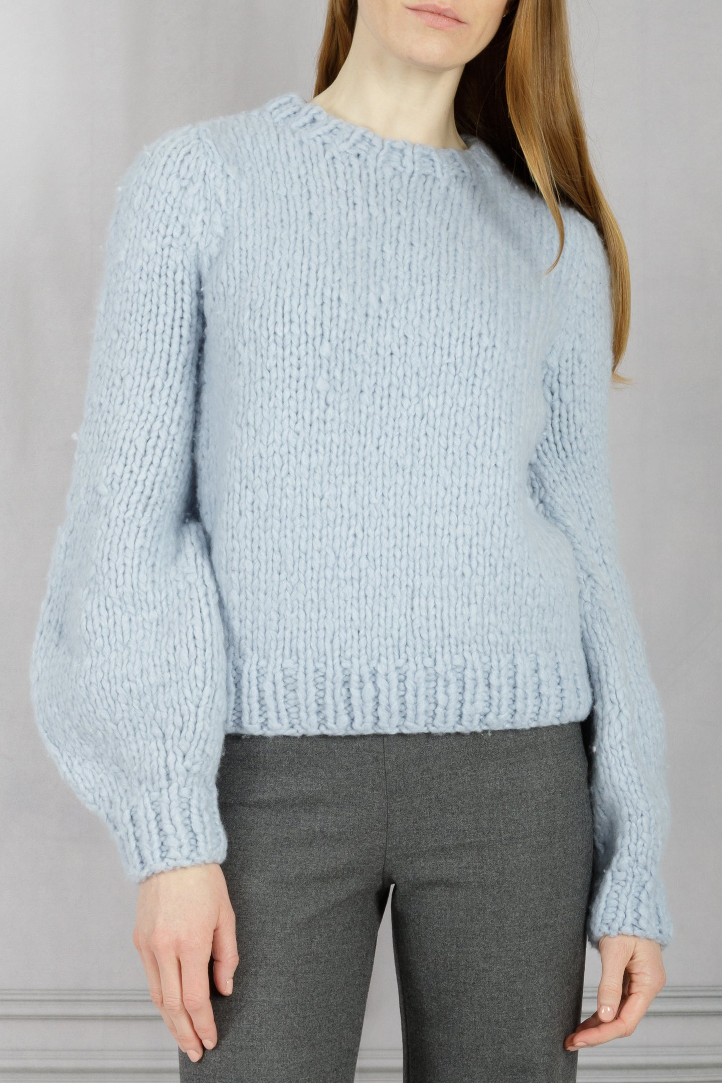 Clarissa Lantern Sleeve Sweater - Halogen Blue