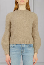 Load image into Gallery viewer, Clarissa Lantern Sleeve Sweater - Oatmeal