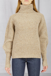 Merle Turtleneck Sweater - Ammonite Melange