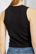 Load image into Gallery viewer, Angie Sleeveless Tank - Black