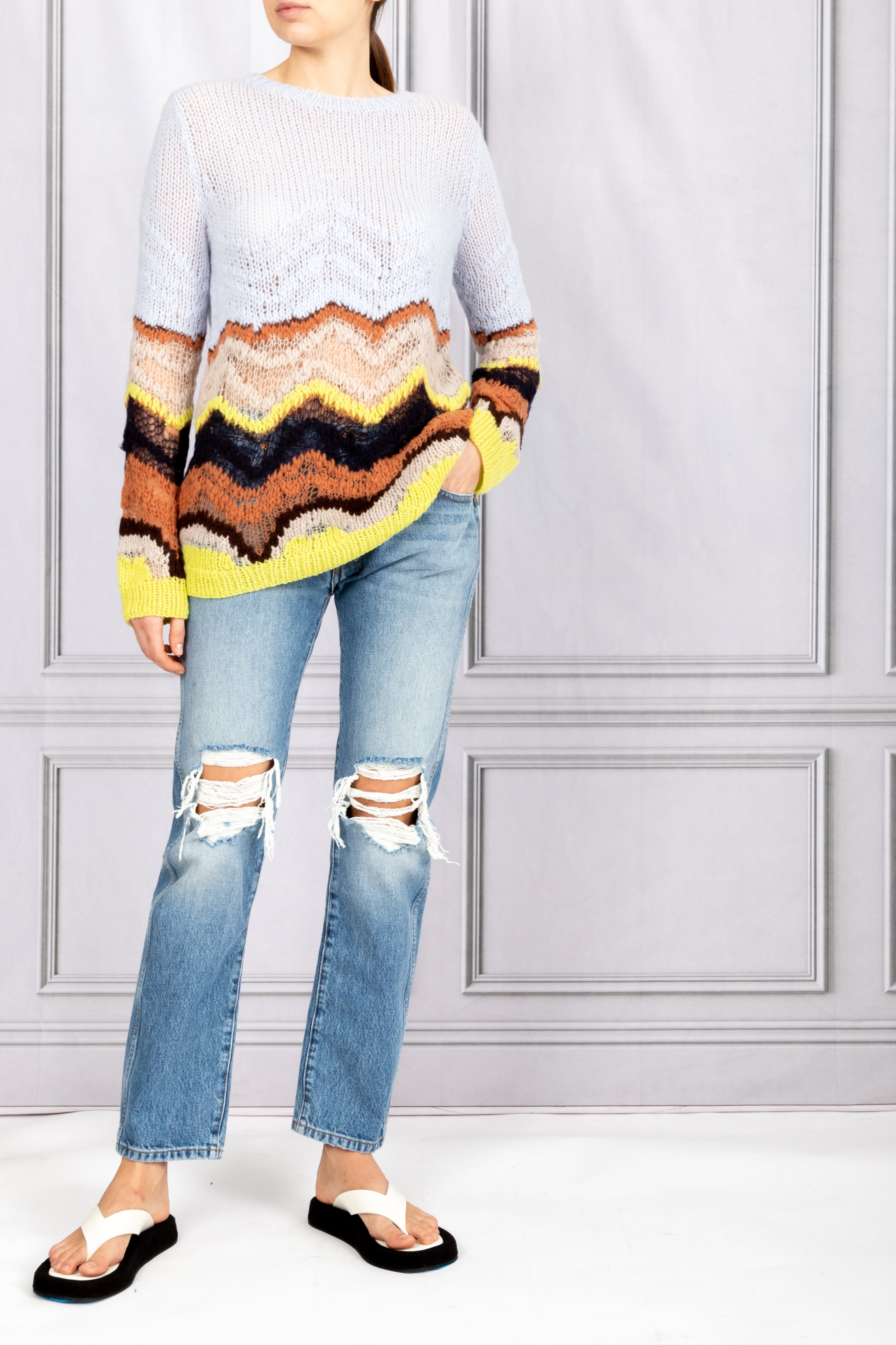 Felipe Hand Knit Sweater - Halogen Blue Multi