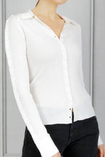 Load image into Gallery viewer, Hill Polo Button Detail Sweater - Ivory