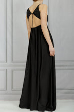 Load image into Gallery viewer, Open Back Lace Long Dress - Black