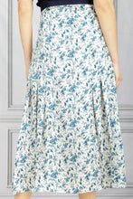 Load image into Gallery viewer, Pleat Detail Recycled Twill Midi Skirt - Toile de Jouy