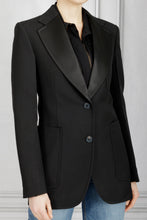 Load image into Gallery viewer, Patch Pocket Tuxedo Jacket - Black