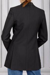Patch Pocket Tuxedo Jacket - Black