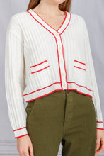 Load image into Gallery viewer, The Athletic Cardigan - Cream