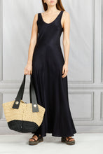 Load image into Gallery viewer, Marocain Sleeveless Long Dress - Notte