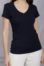Load image into Gallery viewer, V Neck Tee - Navy