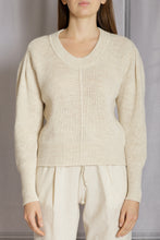 Load image into Gallery viewer, Puff Sleeve Pullover Sweater - Natural