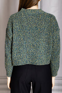 Boxy Pullover Sweater - Blue Green