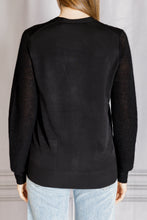 Load image into Gallery viewer, Mixed Texture Cardigan - Black