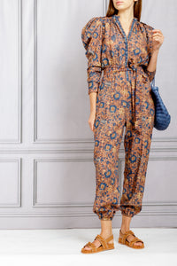 Meadow Puff Sleeve Jumpsuit - Canyon