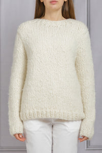 Lawrence Crewneck Chunky Sweater - Ivory