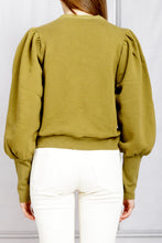 Load image into Gallery viewer, Alba Tie Front Pullover - Fatigue