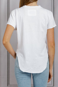Round Hem Perfect Tee - White