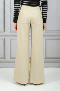 Highwaist Patch Pocket Wide Leg Pant - Sabia