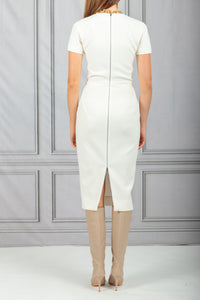 Fitted Seamed Dress - Ivory