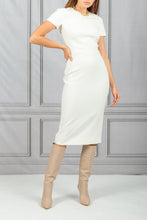 Load image into Gallery viewer, Fitted Seamed Dress - Ivory