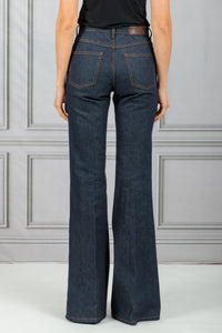 San Fan Highwaisted Flare Denim Jean - Raw