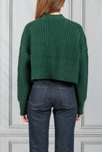 Load image into Gallery viewer, Preston Cropped Cable Cardigan - Hunter Green