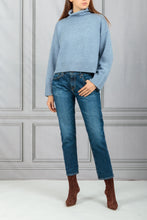 Load image into Gallery viewer, Stintino Cropped Turtleneck Sweater - Blue
