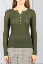 Load image into Gallery viewer, Julian Button Down Henley - Olive