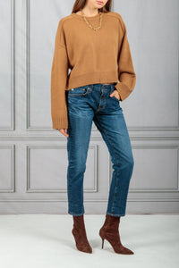 New Bruzzi Cropped Pullover Sweater - Camel