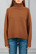 Load image into Gallery viewer, Lanie Boxy Turtleneck Sweater - Cognac