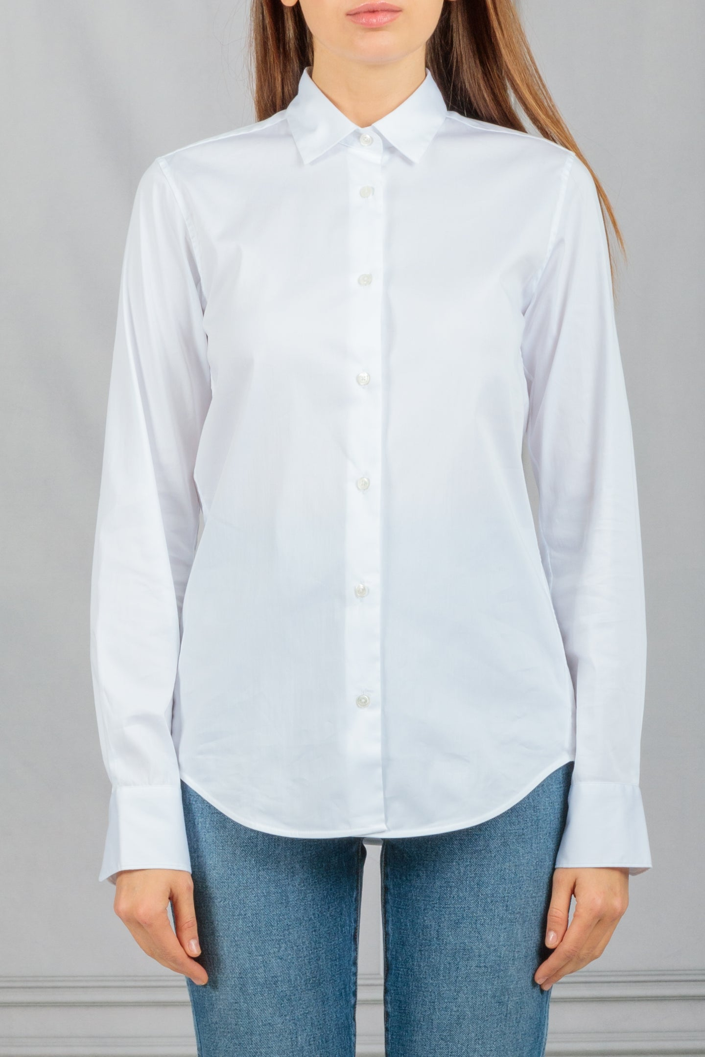 Pauline Classic Button Down Shirt - White