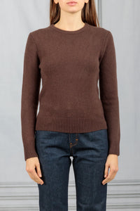 Long Sleeve Crewneck Sweater - Brown