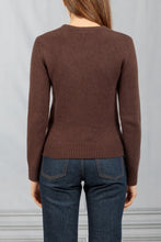 Load image into Gallery viewer, Long Sleeve Crewneck Sweater - Brown