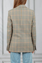 Load image into Gallery viewer, Double Breasted Check Blazer - Cream Check