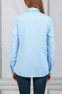 Colombe Button Down Classic Shirt - Blue
