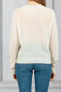 Mixed Texture Crewneck Pullover - Off White