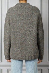 Goodwin Donegal Crewneck Sweater - Heather Grey