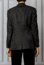 Load image into Gallery viewer, Carabella Jacquard Tomboy Blazer - Black