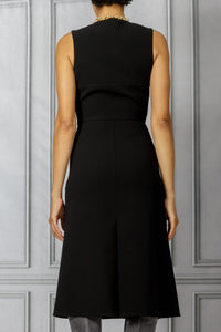 Fit and Flare Slim Dress - Black