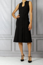 Load image into Gallery viewer, Fit and Flare Slim Dress - Black