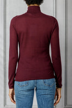 Load image into Gallery viewer, Costa Turtleneck Knit Top - Burgundy