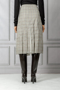 Binka Pleated Skirt - Mini Check