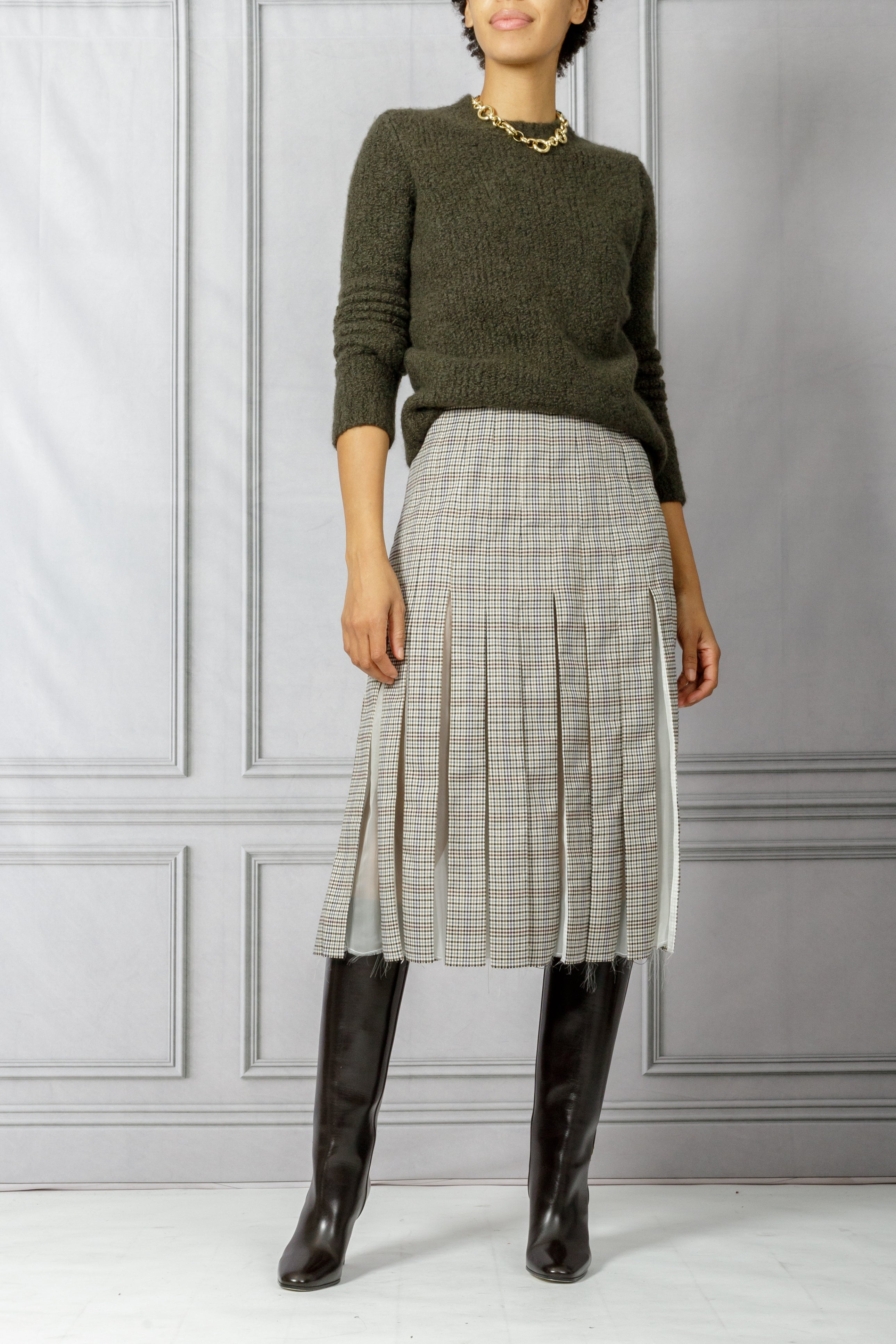 Philippe Boucle Sweater - Olive