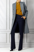 Load image into Gallery viewer, Double Breasted Coat - Navy White
