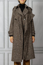 Load image into Gallery viewer, Cape Coat - Black Brown