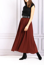 Load image into Gallery viewer, Jersey Full Skirt with Belt - Cinnamon